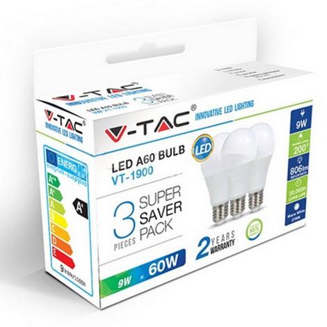 Žarulja LED E27 9W 3/1 Hladno bijela 6000K