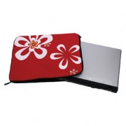 Torba notebook SLEEVE RED FLOWERS