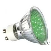 Žarulja 230V LED zelena GU10