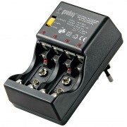 Punjač za 4XR3/R6 i 2X9V baterije.