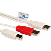 Kabel USB 2XA/1XB