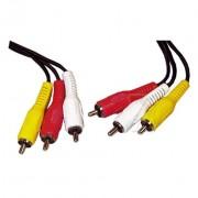 Kabel 3x cinch m na 3x cinch m 2 m ASWO