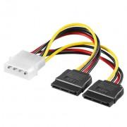 Kabel 4 pin HDD na 2x SATA 12 cm