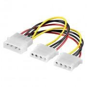Kabel HDD muški na 2x HDD ženski 16 cm