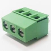 Redna stezaljka 3 pin zelena 250V