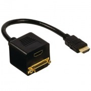 Adapter HDMI male to HDMI female + DVI female
